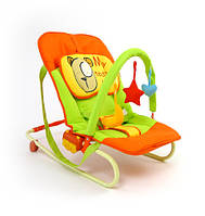 Кресло качалка детский шезлонг Мишка Maxi Milly Mally 120295
