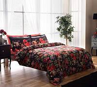 Семейный комплект постельного белья TAC SATEN DESPINA фуксия