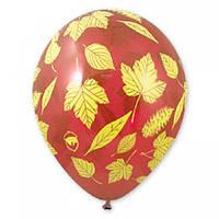 """Воздушные шары """"Осенние листья"""" 14""""(35см)  КРИСТАЛЛ  В упак:25 шт. Пр-во: Belbal (Бельгия)"""
