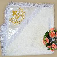 Крыжма для крещения махровая с капюшоном №7 , фото 1
