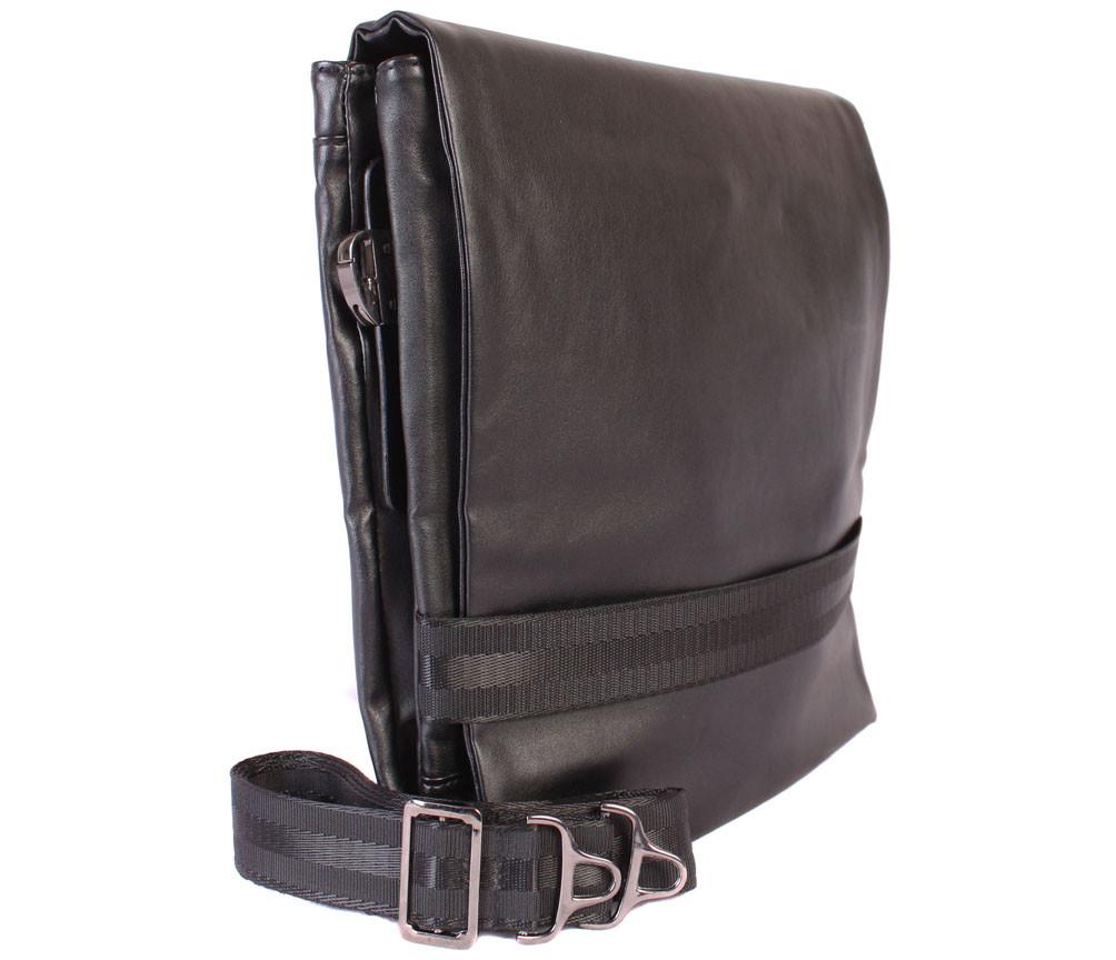 Мужская сумка из искусственной кожи E30901 Черная