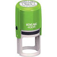 Остнастка для круглой печати, пласт., D40, с футляром, зеленая