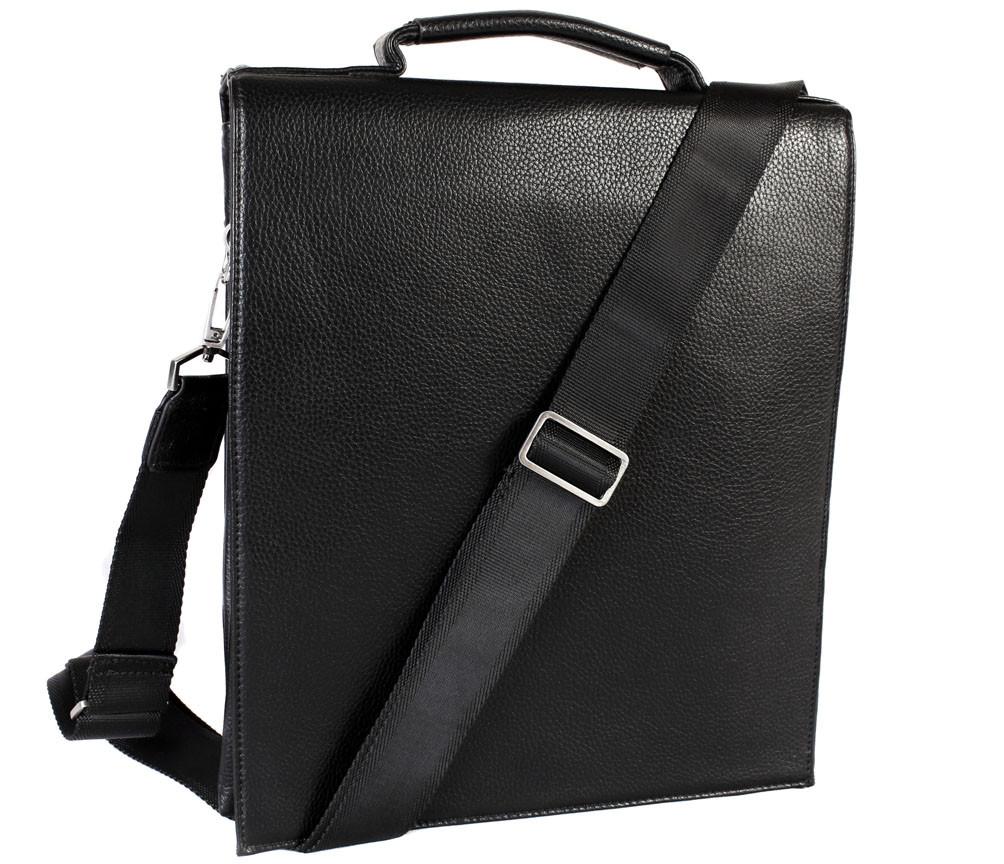 Мужская сумка из искусственной кожи E30909 Черная