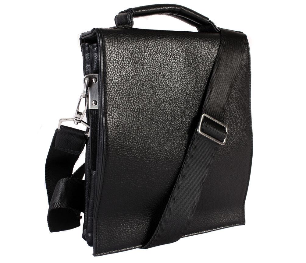 Мужская сумка из искусственной кожи E30910 Черная