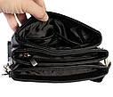 Мужская сумка из искусственной кожи E30910 Черная, фото 9