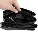 Мужская сумка из искусственной кожи E30910 Черная, фото 10