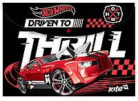 Папка на кнопке А4 KITE Hot Wheels HW15-200K
