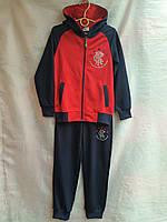 Спортивный костюм детский для мальчика от 7 до 11 лет,темно синий с красным, фото 1