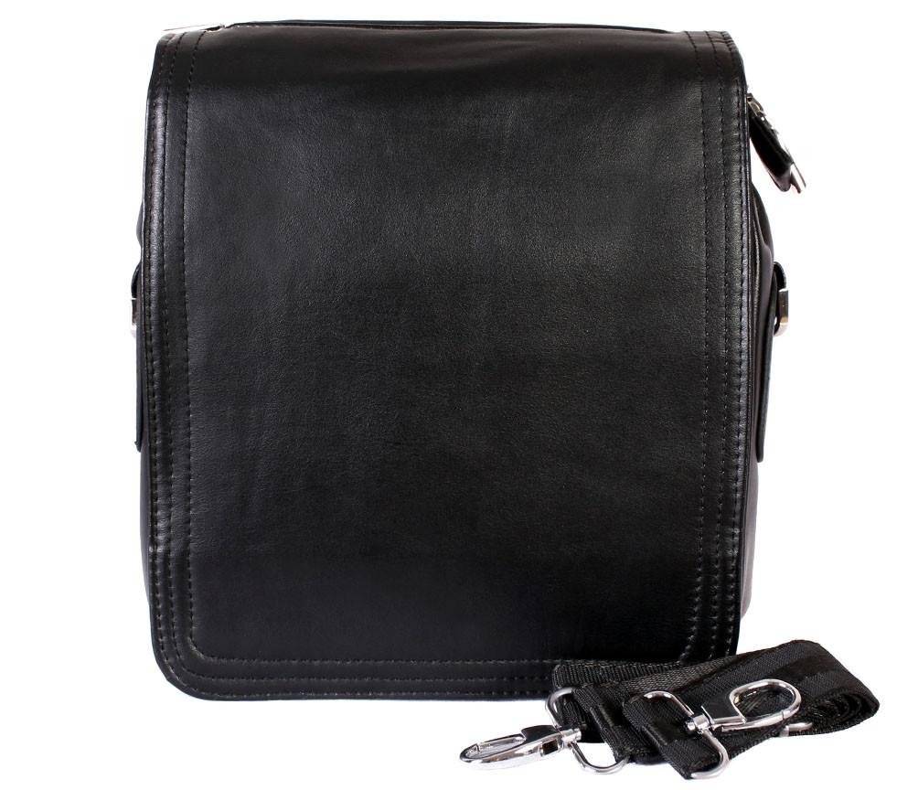 Мужская сумка из искусственной кожи E30913 Черная