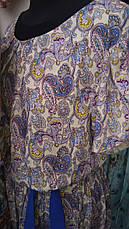 Літній гарне модне плаття в підлогу з легкого штапелю., фото 2