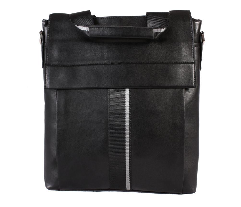 Мужская сумка из кожзаменителя E30915 Черная