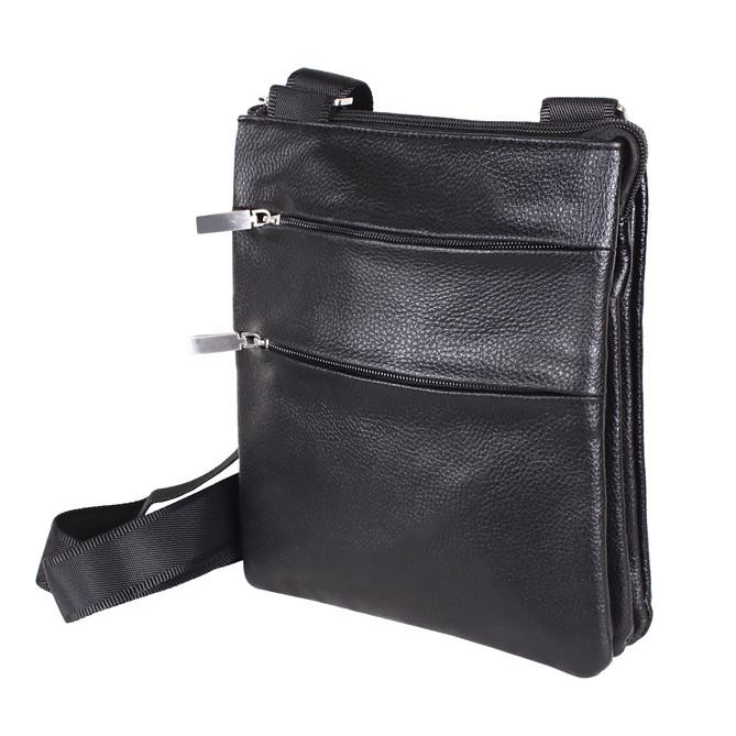 Мужская сумка из искусственной кожи E302416 Черная