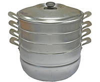 Мантоварка INTEROS 6 литров 3 сетки (алюминий)