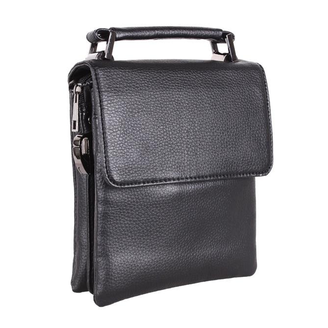 Мужская сумка из искусственной кожи E302852 Черная