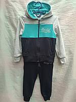 Спортивный костюм детскийдля мальчикаот 3 до 6лет,темно синий с голубым, фото 1