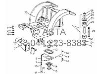 Передний брызговик на YTO X804