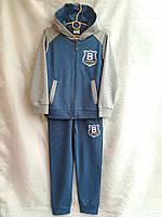 Спортивный костюм подростковый для мальчикаот 7 до 11лет,синий с серым, фото 1