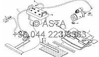Аккумулятор и кронштейн (вариант с главным выключателем питания) на YTO X804
