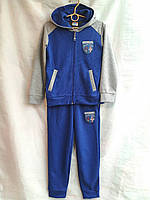 Спортивный костюм подростковый для мальчикаот 7 до 11лет,электрик с серым, фото 1