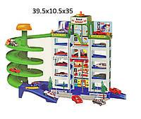 Детская игрушка паркинг для мальчиков 922R (922)  6 уровней, 4 машинки, в коробке 39,5*10,5*35 см.