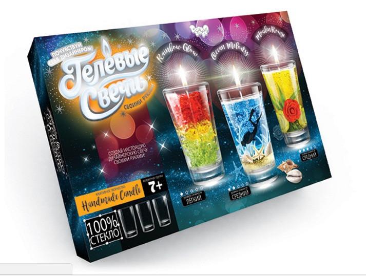 """Набір креативної творчості """"Гелеві свічки"""" своїми руками"""", 2 види, GS-02-01, GS-02-02"""