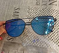 Солнцезащитные очки  Dior, цвет линз голубой