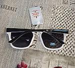 Солнцезащитные очки Aras Polarized черные линзы с белыми дужками, фото 10