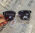 Солнцезащитные очки Aras Polarized черные линзы с белыми дужками, фото 9