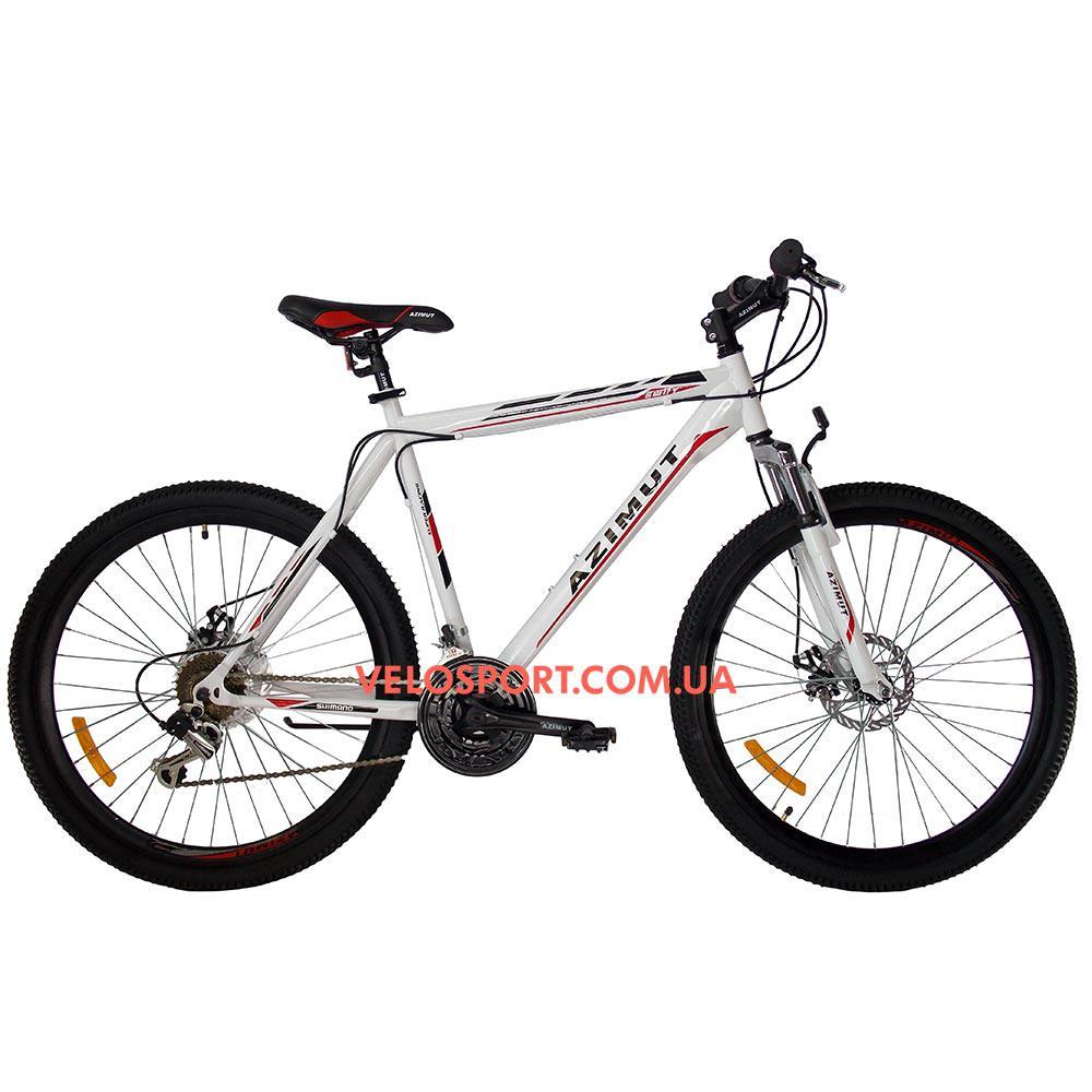 Горный велосипед Azimut Swift 26 GD бело-красный