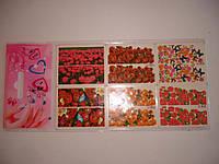 Наклейки для ногтей Lian lian водные, разноцветные