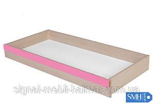 Ящик подкроватный SZUFLADA Caps BRW дуб светлый belluno/розовый