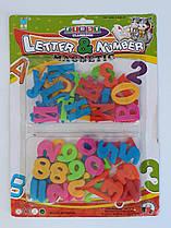 Набор магнитных букв и цифр на планшете №6343 14224Ф Китай