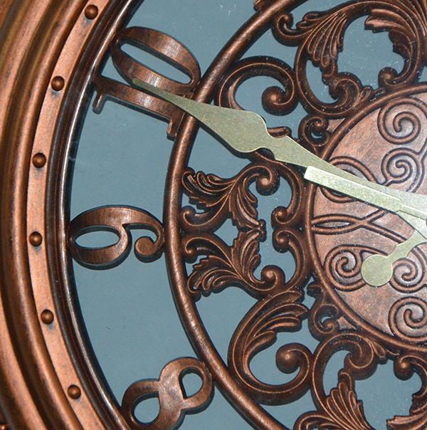 Красивые настенные часы Copper (28 см.)