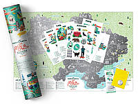 "Скретч карта ""Travel Map Моя Родная Украина""  UAR"