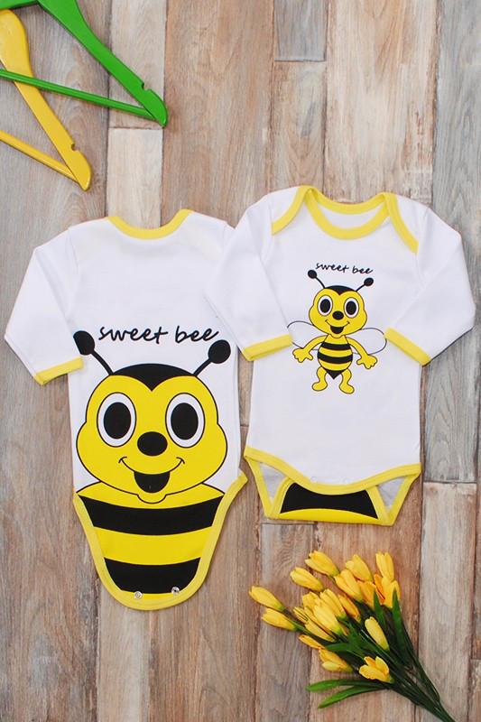 """Боди  """"Пчелка"""" ( Интерлок, 100% хлопок)"""