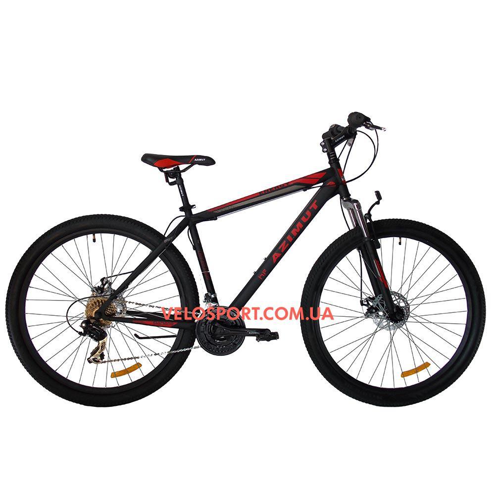 """Горный велосипед Azimut Energy 29 GD 21"""" черно-красный"""