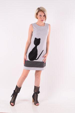 """Платье-сарафан женский трикотажный  """"Cat""""  размеры 40-46"""