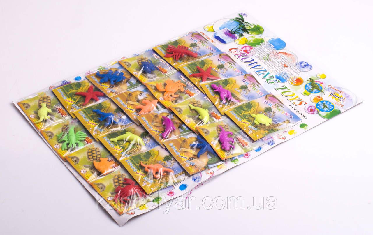 Гидрогель на планшете: 20 пакетиков, морские животные