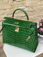 Женская сумка Гермес Биркин 28 см кожа под крокодила (реплика), фото 1