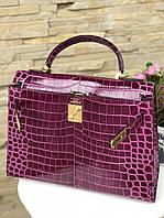 Женская сумка Гермес Биркин 28 см кроко (реплика), фото 1