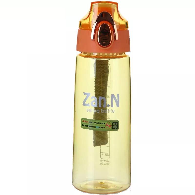 Бутылка для воды ZANNUO 7652 силиконовая портативная Бутылочка 700 мл Оранжевый (SUN1101)