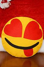 Декоративна подушка-смайлик Emoji #9 Закоханий бешкетник
