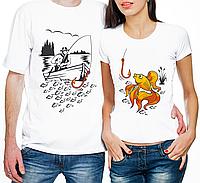 """Парные футболки """"Рыбак/Золотая Рыбка"""" (частичная, или полная предоплата)"""
