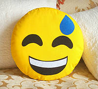 Декоративная подушка-смайлик Emoji #18 Улыбка, фото 1