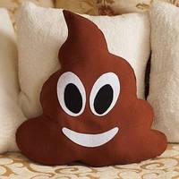 Подушка-смайлик коричневого Emoji Какашка #20