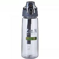Бутылка для воды ZANNUO 7652 силиконовая портативная Бутылочка 700 мл Серый (SUN1102)