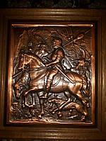 Картина оловянная Охотник