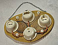 Ретро распределительная коробка фарфоровая (86х50) Artlight, белая, фурнитура бронза, никель, фото 7