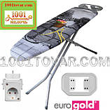 """Гладильная доска """"Eurogold Aero Max"""" (120х38 см.) на термопластиковой основе с розеткой и чехлом, фото 2"""