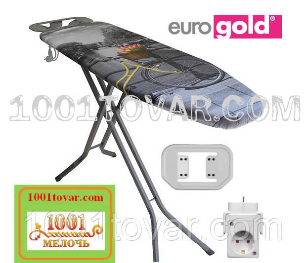 """Гладильная доска """"Eurogold Aero Max"""" (120х38 см.) на термопластиковой основе с розеткой и чехлом"""